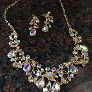 Necklace with matching earrings. Never worn